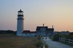 fyren massachusetts för udd för 1816 fyrar upprättade första historiska ljusa var den torsk ett torn för rubblestone för punktrac Arkivfoton