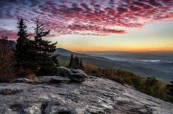 Fyrhöjder, North Carolina, blåa Ridge Parkway Arkivbilder