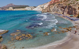Fyriplaka beach, Milos island, Greece Royalty Free Stock Photo