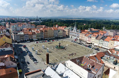 Fyrkant av Ceske Budejovice royaltyfri fotografi