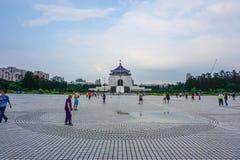 Fyrkant av Chiang Kai-shek Memorial Hall i den Taipei staden, Taiwan Royaltyfri Bild