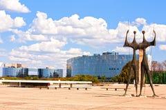 Fyrkant av de tre överhetbrasilia goiasna Brasilien royaltyfria foton