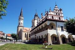 Fyrkant av den Levoca staden Arkivbilder