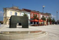 Fyrkant av frihet i Porec, Kroatien Arkivbilder