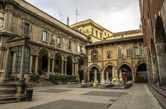Fyrkant av köpmännen, Milano Arkivbilder
