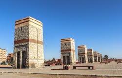Fyrkant av Marrakech, Marocko Arkivfoton