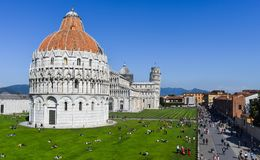 Fyrkant av mirakel, Pisa arkivfoto