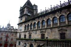 Fyrkant av Plateriaen, Santiago de Compostela royaltyfri fotografi