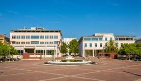 Fyrkant av republiken i Podgorica Arkivbilder