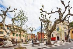 Fyrkant av Rome i Garda Royaltyfri Foto