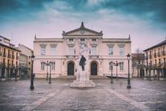 Fyrkant av stadshuset Palencia, Spanien arkivfoto