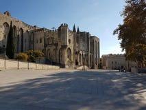 fyrkant för avstånd för pope provence för slott för lott för cote D Europa france för kopia för alpsavignon azur central Arkivbild