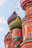 fyrkant för basilikadomkyrkamoscow röd russia saint moscow röd fyrkant Fotografering för Bildbyråer