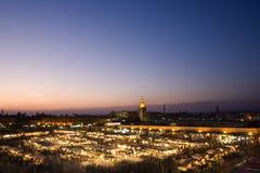 fyrkant för el-fnajemaa royaltyfri fotografi