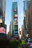 Fyrkant för gataliv tidvis i New York, USA Fotografering för Bildbyråer