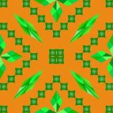 Fyrkant för gräsplan för romb för modellvektorabstraktion orange Royaltyfri Foto