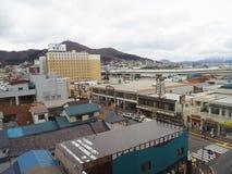 Fyrkant för Hakodate morgonmarknad, Hokkaido, Japan Royaltyfria Foton