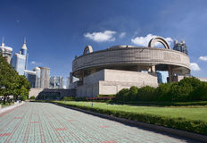fyrkant för konstmuseumfolk s shanghai Arkivbild