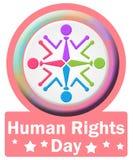 Fyrkant för mänsklig rättighetdagcirkel Royaltyfri Bild