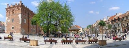 fyrkant för marknadspoland sandomierz Royaltyfria Foton