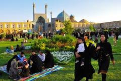 FYRKANT FÖR NAQSH-E JAHAN, ISFAHAN, IRAN arkivbilder