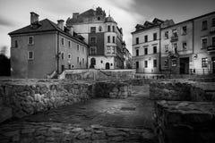 Fyrkant för Po Farze - en fyrkant i den gamla staden i Lublin Royaltyfri Fotografi