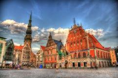 Fyrkant för Riga stadshus (Albert) royaltyfria foton