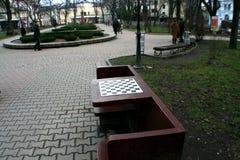 Fyrkant för schackbräde i Ivano-Frankivsk Fotografering för Bildbyråer