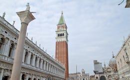 Fyrkant för St Marco i Venedig, Italien Arkivbilder