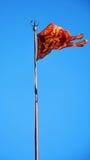 Fyrkant för St Mark ` s och Venetian flagga, i Venedig, Italien Fotografering för Bildbyråer
