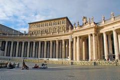 Fyrkant för St Peter's, Vaticano Arkivfoton