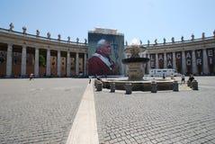 Fyrkant för St Peter ` s, basilika för St Peter ` s, Rome, fyrkant för St Peter ` s, gränsmärke, stadfyrkant, turist- dragning, h Royaltyfri Bild