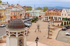 Fyrkant för turk för forner för helgonMaria fyrkant i Chernivtsi Arkivfoton