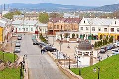 Fyrkant för turk för forner för helgonMaria fyrkant i Chernivtsi Royaltyfri Fotografi