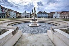 Fyrkant för union för Timisoara ` s, Rumänien Arkivfoto