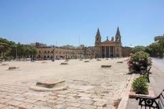 `-Fyrkant Floriana Malta för St Publius arkivbilder