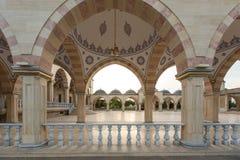 Fyrkant framme av moské`-hjärtan av Tjetjenien `, royaltyfria bilder