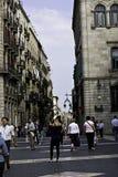 """Fyrkant """"Gràcia"""" i Barcelona Arkivbild"""
