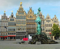 Fyrkant i Antwerpen Royaltyfria Foton