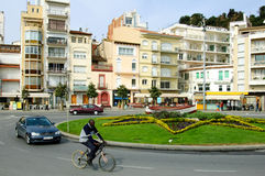 Fyrkant i Blanes Spanien Royaltyfri Fotografi