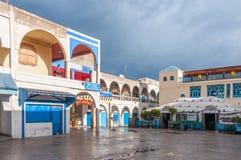 Fyrkant i den gamla staden av Essaouira Royaltyfri Foto