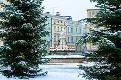 Fyrkant i den Passau Tyskland Royaltyfria Bilder