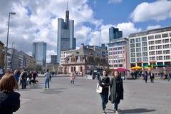 Fyrkant i Frankfurt Royaltyfria Bilder