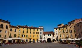 Fyrkant i Lucca Royaltyfri Bild