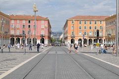 Fyrkant i Nice, Frankrike Royaltyfria Bilder