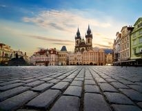 Fyrkant i Prague royaltyfri fotografi