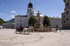 fyrkant i Salzburg arkivbild