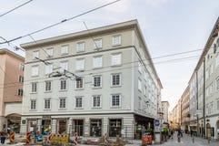 fyrkant i Salzburg Arkivfoton