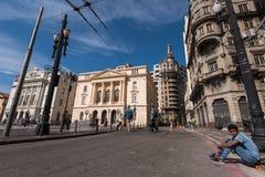 Fyrkant i Sao Paulo royaltyfria foton