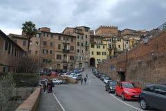 Fyrkant i Siena, Italien arkivfoto